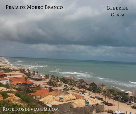 Praia de Morro Branco em Beberibe no Ceará